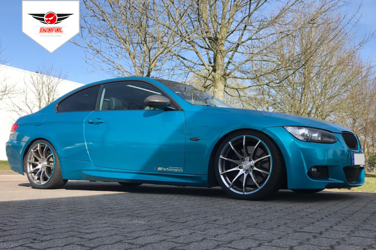 Vollverklebung BMW 3M Atomic Teal